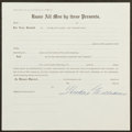 Autographs:Others, Theodore Williams Signed Stock Certificate....