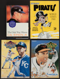 Autographs:Others, Baseball Greats Signed Books And Program Lot Of 4 (Including TedWilliams, Cal Ripken Jr)....