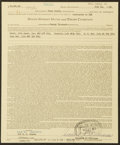 Autographs:Others, 1964 Theodore S. Williams Signed Life Insurance Policy. ...