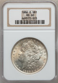 Morgan Dollars: , 1886-O $1 MS60 NGC. NGC Census: (161/1338). PCGS Population(176/1745). Mintage: 10,710,000. Numismedia Wsl. Price for prob...