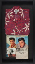 Music Memorabilia:Autographs and Signed Items, Elvis Presley Autographed Loving You EP and PhotoDisplay....