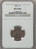 Indian Cents, 1894 1C MS63 Brown NGC and an 1897 MS63 Brown NGC.... (Total: 2coins)