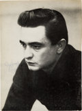 Music Memorabilia:Autographs and Signed Items, Johnny Cash Autographed Program Page....