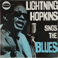 Music Memorabilia:Autographs and Signed Items, Lightning Hopkins Sings the Blues Signed Album Cover (UK -Realm 128). ...