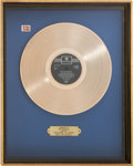 Music Memorabilia:Recordings, With The Beatles Gold Record Award (Denmark - Parlophone, 1963)....
