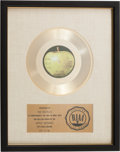 "Music Memorabilia:Awards, Beatles ""Let It Be"" RIAA Gold Record Award...."