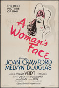 "Movie Posters:Drama, A Woman's Face (MGM, 1941). One Sheet (27"" X 41"") Caricature Style. Drama.. ..."