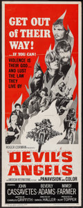 "Movie Posters:Exploitation, Devil's Angels (American International, 1967). Insert (14"" X 36""). Exploitation.. ..."