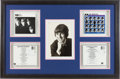 Music Memorabilia:Autographs and Signed Items, Beatles George Harrison Vintage Signed Photo and Two Signed CDs ina Framed Display. ...