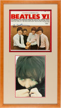 Music Memorabilia:Autographs and Signed Items, Paul McCartney Signed Beatles VI Album Cover (Capitol 2358,1965)....