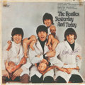 """Music Memorabilia:Autographs and Signed Items, Beatles Ringo Star Signed """"Butcher Cover"""" [Yesterday AndToday] (Capitol T2558, 1966)...."""