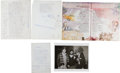 Music Memorabilia:Autographs and Signed Items, Tom Waits Handwritten Letter and Original Poem for CrawdaddyManuscript and Photo Group (1975).... (Total: 4 Items)