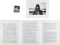 Music Memorabilia:Photos, Patti Smith Photo and Manuscript Group ... (Total: 4 Items)