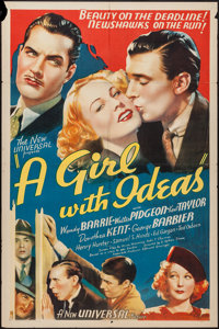 "A Girl with Ideas (Universal, 1937). One Sheet (27"" X 41""). Comedy"