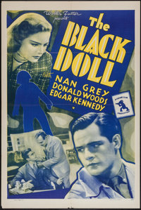 "The Black Doll (Universal, 1938). One Sheet (27"" X 41""). Mystery"