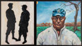 Baseball Collectibles:Others, Negro League Original Paintings Lot Of 2....