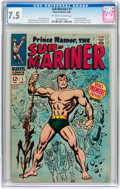 Silver Age (1956-1969):Superhero, The Sub-Mariner #1 (Marvel, 1968) CGC VF- 7.5 Off-white to white pages....