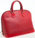 Luxury Accessories:Bags, Louis Vuitton Red Epi Leather Alma PM Top Handle Bag. ...
