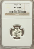 Mercury Dimes: , 1943-S 10C MS65 Full Bands NGC. NGC Census: (143/559). PCGSPopulation (847/874). Mintage: 60,400,000. Numismedia Wsl. Pric...