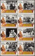 """Movie Posters:Action, Battle of the Amazons (American International, 1973). Lobby CardSet of 8 (11"""" X 14""""). Action.. ... (Total: 8 Items)"""