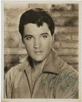 Music Memorabilia:Autographs and Signed Items, An Elvis Presley Signed Black and White Photograph, 1965....
