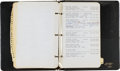 Movie/TV Memorabilia:Documents, A John Wayne Address Book, Circa 1976....