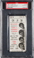 Music Memorabilia:Tickets, Beatles John F. Kennedy Stadium Concert Ticket Stub (1966)....