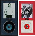 Music Memorabilia:Recordings, Buddy Holly Two Matted Displays.... (Total: 2 Items)
