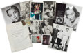 Movie/TV Memorabilia:Documents, A Gloria Swanson Group of Mostly Never-Before-Seen Photographs,Circa 1960s....