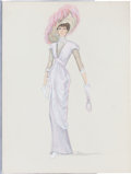 "Movie/TV Memorabilia:Costumes, A Jane Seymour Costume Design Sketch from ""Somewhere in Time.""..."