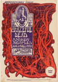 "Music Memorabilia:Posters, Grateful Dead ""Anniversary Party"" Old Cheese Factory Concert Poster(1966)...."