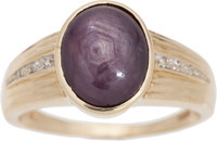 Elvis Presley Owned and Worn Star Ruby and Diamond Ring