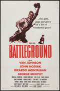 "Movie Posters:War, Battleground (MGM, 1949). Military One Sheet (27"" X 41""). War.. ..."
