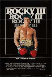 "Rocky III (United Artists, 1982). One Sheet (27"" X 41""). Sports"