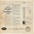 Music Memorabilia:Autographs and Signed Items, Rolling Stones Band Signed Album Cover (1960s). ...
