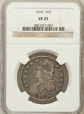 Bust Half Dollars: , 1826 50C VF25 NGC. NGC Census: (25/1405). PCGS Population(33/1693). Mintage: 4,000,000. Numismedia Wsl. Price for problem...