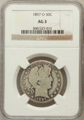 Barber Half Dollars: , 1897-O 50C AG3 NGC. NGC Census: (0/155). PCGS Population (47/338).Mintage: 632,000. Numismedia Wsl. Price for problem free...