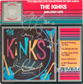 Music Memorabilia:Autographs and Signed Items, Kinks Signed Kinks Greatest Hits (ERA 3950, 1984). ...