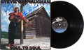 Music Memorabilia:Autographs and Signed Items, Stevie Ray Vaughan Signed Soul To Soul Album Cover. ...