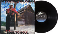 Stevie Ray Vaughan Signed Soul To Soul Album Cover