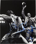 Music Memorabilia:Autographs and Signed Items, Bruce Springsteen and Clarence Clemons Signed Photo....