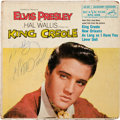 Music Memorabilia:Autographs and Signed Items, Elvis Presley Signed King Creole EP (RCA EPA-4319, 1958)....