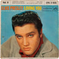 Music Memorabilia:Autographs and Signed Items, Elvis Presley Signed Loving You Vol II EP (RCA 2-1515,1957)....