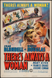 "There's Always a Woman (Columbia, 1938). One Sheet (27"" X 41""). Mystery"