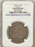 Bust Half Dollars: , 1824/4 50C -- Scratches -- NGC Details. Good. O-110. NGC Census:(0/119). PCGS Population (0/155). (#6140)...