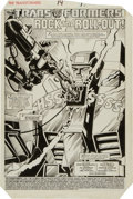Original Comic Art:Splash Pages, Don Perlin and Al Gordon Transformers #14 Jetfire SplashPage 1 Original Art (Marvel, 1986)....