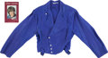 Music Memorabilia:Costumes, Monkees' Davy Jones Stage Worn and Signed Blue Jacket with SignedBook. ... (Total: 6 Items)