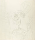 Original Comic Art:Sketches, Joe Simon Captain America Pencil Sketch Original Art (undated)....