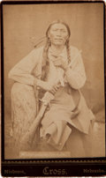 Photography:CDVs, Carte de Visite Photo: White Paints His Ears, ...