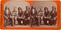 Photography:Stereo Cards, Albumen Stereoview: Arizona Indian chiefs and Superintendent of Indian Affairs...